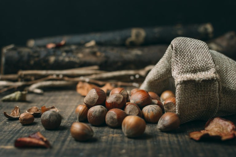 Chestnuts all over table